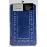 Catherine Lansfield Blue Bath & Pedestal Mat Twin Pack