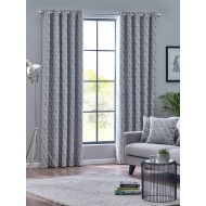 Byron Monochrome Eyelet Curtains