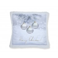 Christmas Greetings Baubles Cushion Cover