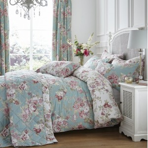 Dorma Country Floral Duckegg Duvet Set