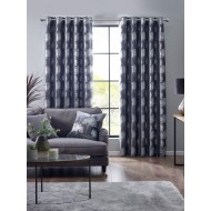 Enchanted Forest Charcoal Eyelet Curtains