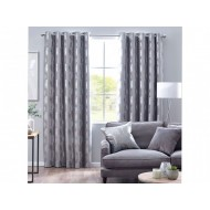 Enchanted Forest Silver Eyelet Curtains