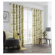 Karsten Lime Eyelet Curtains