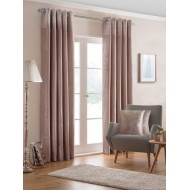 Nova Blush Eyelet Curtains