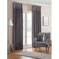 Nova Pewter Eyelet Curtains