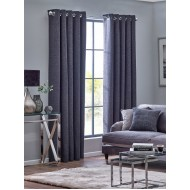 Orion Graphite Eyelet Curtains