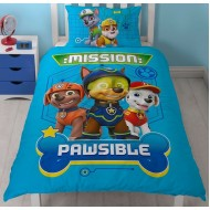 Paw Patrol Spy Single Panel Reversible Duvet Set
