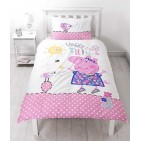 Peppa Pig Happy Single Panel Reversible Duvet Set