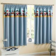 Pirate Blue Pencil Pleat Curtains