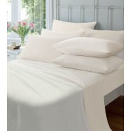 Cream Brushed 190gsm Flannelette Fitted Sheet