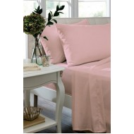 Candy Pink Non Iron Plain Dyed Percale Flat Sheet