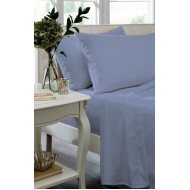 Cornflower Blue Non Iron Plain Dyed Percale Fitted Sheet