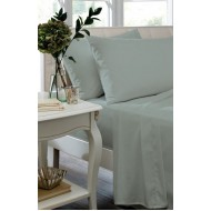 Duckegg Non Iron Plain Dyed Percale Flat Sheet