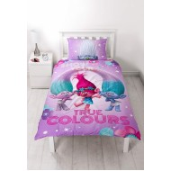 Trolls Glow Single Panel Reversible Duvet Set