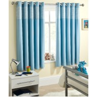 Sweethearts Blue Eyelet Curtains