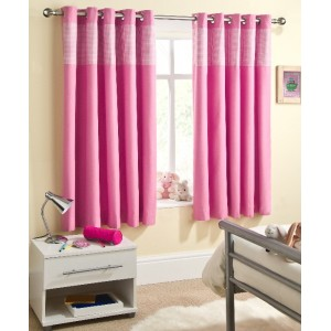 Sweethearts Pink Eyelet Curtains