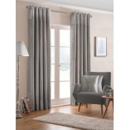 Nova Silver Eyelet Curtains
