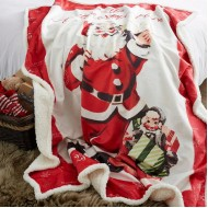 Retro Santa Throw