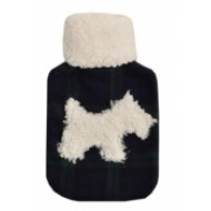 Scottie Silhouette Hot Water Bottle